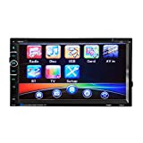 KKmoon Multimedia Video DVD Player Car Radio Audio 2 Din 6.95'' inch Digital Touch Screen Remote Control BT Handfree Support Rear View Camera
