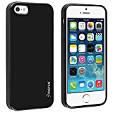 iPhone SE Case, Insten TPU Rubber Skin Case Cover Compatible with Apple iPhone 5SE / 5S / 5, Black Jelly