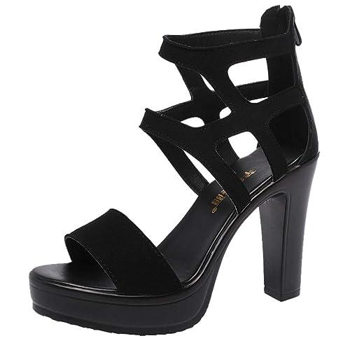 disponibilidad en el reino unido 33e37 3278d Zapatos de Tacón Alto Ancho para Mujer Sexy Elegantes Verano ...