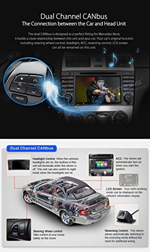 XTRONS Android 6.0 Octa-Core 64Bit 7 Inch Capacitive Touch Screen Car Stereo Radio DVD Player GPS CANbus Screen Mirroring Function OBD2 Tire Pressure Monitoring for Mercedes Benz W203 W209 by XTRONS (Image #6)