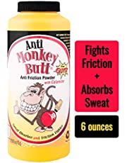 Original Anti Monkey Butt   Men's Body Powder with Talc   Fights Friction and Absorbs Sweat   6 Ounces   Pack of 1