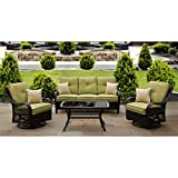 Hanover ORLEANS4PCSW Orleans 4-Piece Outdoor Lounging Set, Includes Sofa, 2 Swivel-Gliders and 43 by 26-Inch Coffee Table Review