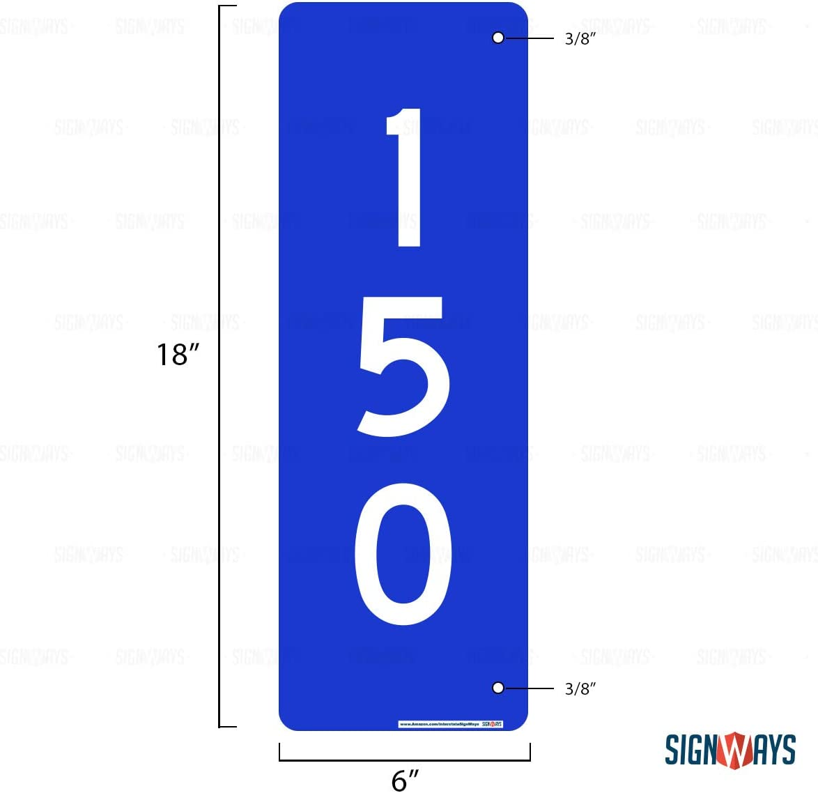 3M Quality Reflective 3M Quality Laminated-Durable-Aluminum 18 x 6 Made in USA Safety Black Includes Holes 911 Emergency Address Sign