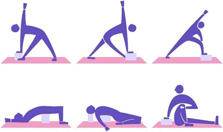 SAQIMA 2 Pcs Yoga Block Meditation Supportive Latex-Free EVA Foam Soft Non-Slip Surface for Yoga Pilates