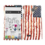 ACCESSORY MATTE COVER HARD CASE FOR LG OPTIMUS L9 P769 PROUD AMERICAN USA FLAG