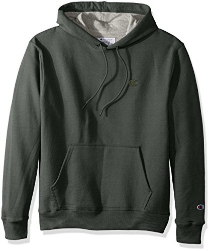 Champion Mens Powerblend Pullover Hoodie  Forest Grove Heather  X Large