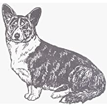"Dog Rubber Stamp - Welsh Corgi Cardigan-1E (Size: 2-1/4"" Wide X 2-1/4"" Tall)"