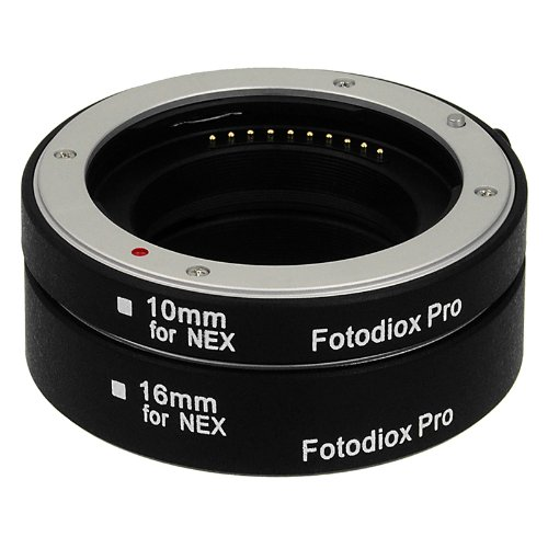 Extenstion Kit (Fotodiox Pro Automatic Macro Extension Tube Kit for Sony E-Mount (NEX) Mirrorless Camera System with Auto Focus (AF) and TTL auto Exposure for Extreme Close-up (10mm, 16mm))