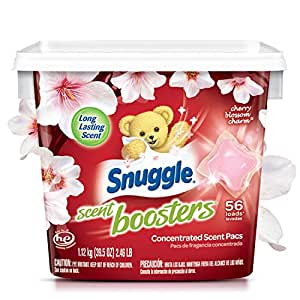 Snuggle Laundry Scent Boosters Concentrated Scent Pacs, Cherry Blossom Charm, Tub, 56 Count