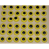 """Edible Icing Royal Eyes Cake Candy Cookie Decorations 7/16"""" 84 count (Yellow)"""