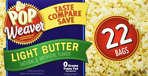 Pop Weaver Microwave Popcorn Light Butter