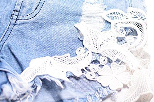 Simplee Apparel - Vaqueros - para mujer Azul