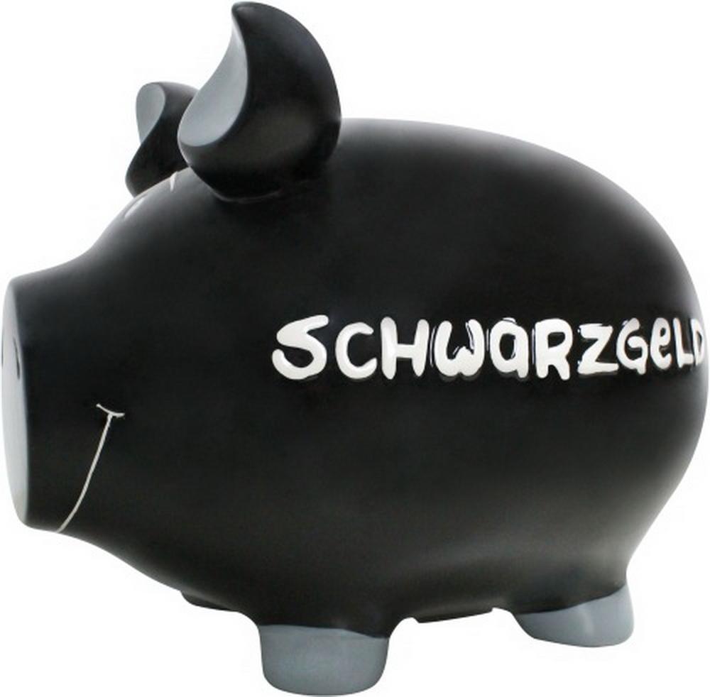 KCG Spardose Schwein Schwarzgeld Keramik groß