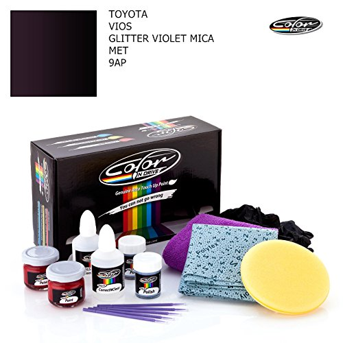 Toyota VIOS/Glitter Violet MICA MET - 9AP / Color N Drive Touch UP Paint System for Paint Chips and Scratches/Basic Pack (Basic Glitter)