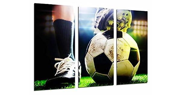 Cuadros Cámara Cuadro Fotográfico Motivacion Deporte Futbol, Balon, Pelota, Multicolor, 97 x 62 cm XXL: Amazon.es: Hogar