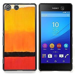 """For Sony Xperia M5 Case , África Horizonte acuarela naranja"""" - Diseño Patrón Teléfono Caso Cubierta Case Bumper Duro Protección Case Cover Funda"""