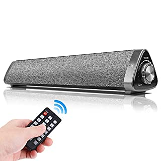 Bluetooth Computer Speakers, Chuangker Wired/Wireless Computer Sound Bar Built-in Mic, USB Computer Speakers with Remote Control for PC/Cellphone/Tablet/Desktop/Laptop