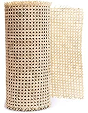 """24"""" Width Rattan Webbing for Caning Projects Natural Pre - Woven Open Mesh Cane - Cane Webbing Sheet"""
