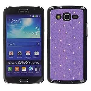 TopCaseStore / la caja del caucho duro de la cubierta de protección de la piel - Star Abstract Polka Dot - Samsung Galaxy Grand 2 SM-G7102 SM-G7105