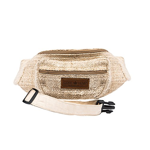 CoreHemp Fanny Pack Waist Hip Bag Handmade From Pure Hemp (Vintage) ()