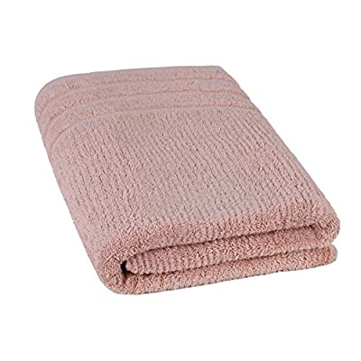 Jonny&Lora Advanced Anti-Fade Household Bath Towels Cotton 600 GSM Brown(28x55,inch) - Size:28*55,inch,Bath Towel Weight:588g Woven with 100% ring spun cotton, soft and comfortable, high tearing fastness and absorbent,Vertical line pattern design, Five-star hotel quality, unique style for you Machine washable, tumble dry on low. For best results, wash separately on first use to minimize lint. - bathroom-linens, bathroom, bath-towels - 513NHwuhEXL. SS400  -
