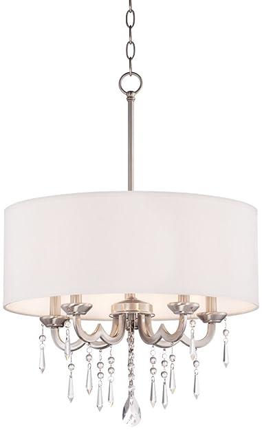 Georgiana 20 wide white shade chandelier amazon georgiana 20quot wide white shade chandelier mozeypictures Images