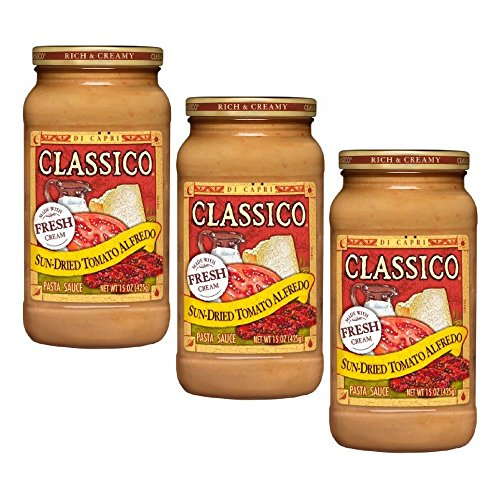 Classico Pasta Sauce Sun-Dried Tomato Alfredo, 15 Oz (pack of 3)