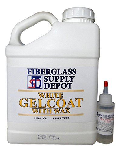 White Gelcoat with Wax - Gallon with 60cc Hardener (MEKP) by Fiberglass Supply Depot Inc.
