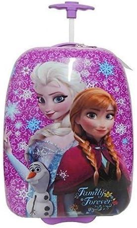Disney Frozen Elsa Anna Purple Hard Shell Pilot Case Rolling Luggage