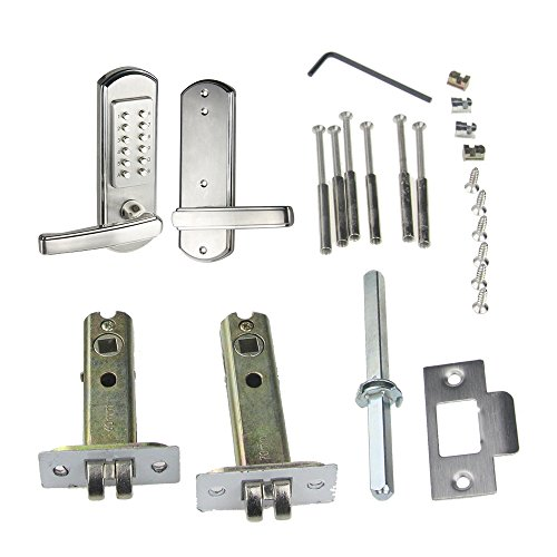 Mfrdirect Keyless Door Lock Lever Mechanical Keypad Code