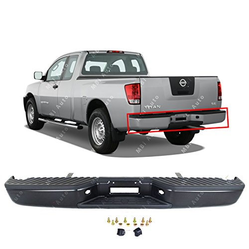 Nissan Pickup Replacement Bumper - MBI AUTO - Primered Steel, Rear Step Bumper Assembly for 2004-2015 Nissan Titan XE Pickup, NI1103117