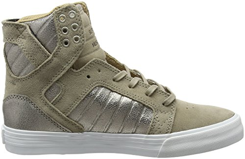 Supra Sneaker Alte White Skytop Donna Beige taupe wE7Wwvq5r