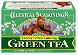 Celestial Seasonings, GREEN TEA HONEY LEMON GINSENG, Case of 6/20 Bags by Celestial