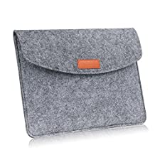 MoKo 7-8 Inch Felt Sleeve Bag, Portable Carrying Protective Tablet Case Cover, for Apple iPad mini 1 / 2 / 3 / 4, Samsung Galaxy S2 8.0, Tab E 7.0 / 8.0, Tab A 8.0, Tab 3 8.0, Tab 4 8.0, Light GRAY