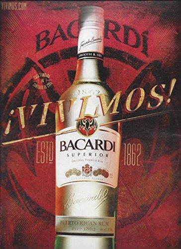 MAGAZINE ADVERTISEMENT For 2013 Bacardi Superior Rum (Superior Rum)