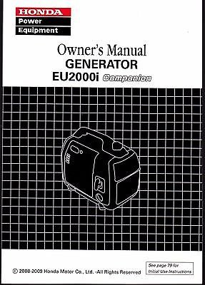 2008-2009 Honda Generator EU2000i COMPANION Owners Manual (564)