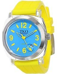 TKO ORLOGI Womens TK558-YL Milano Junior Acrylic Case Blue Dial Watch