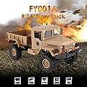 FY001A 2.4Ghz 1/16 4WDオフロードRCミリタリートラッククライマークローラーRCカーイエロー
