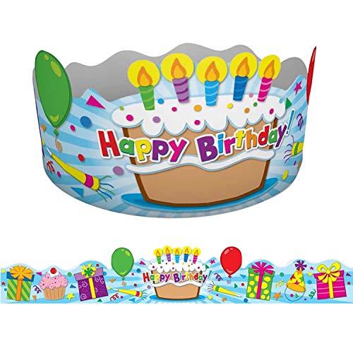 Carson-Dellosa CD-101021BN Birthday Crowns, 30 Per Pack, 2 Packs