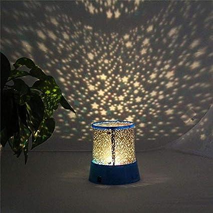 Prevently Rotierendes Projektionsnachtlicht Blauer Stern ...