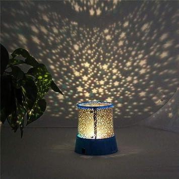 Prevently Rotierendes Projektionsnachtlicht Blauer Stern Projektor