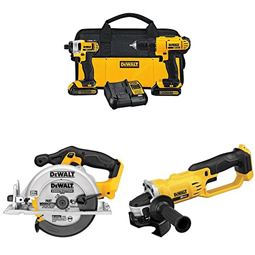 DEWALT Lithium Drill Driver Li-Ion Circular Saw and Lithium Ion grinder by DEWALT