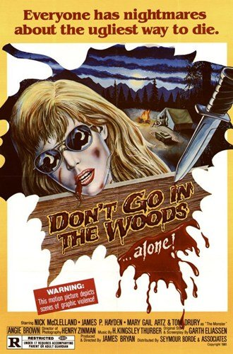 ArtFuzz Don't Go in The Woods Movie Poster Print