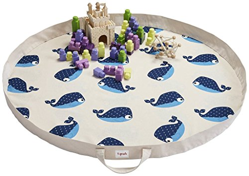 3 Sprouts Play Mat Bag, Whale, Blue - Blue Playmat