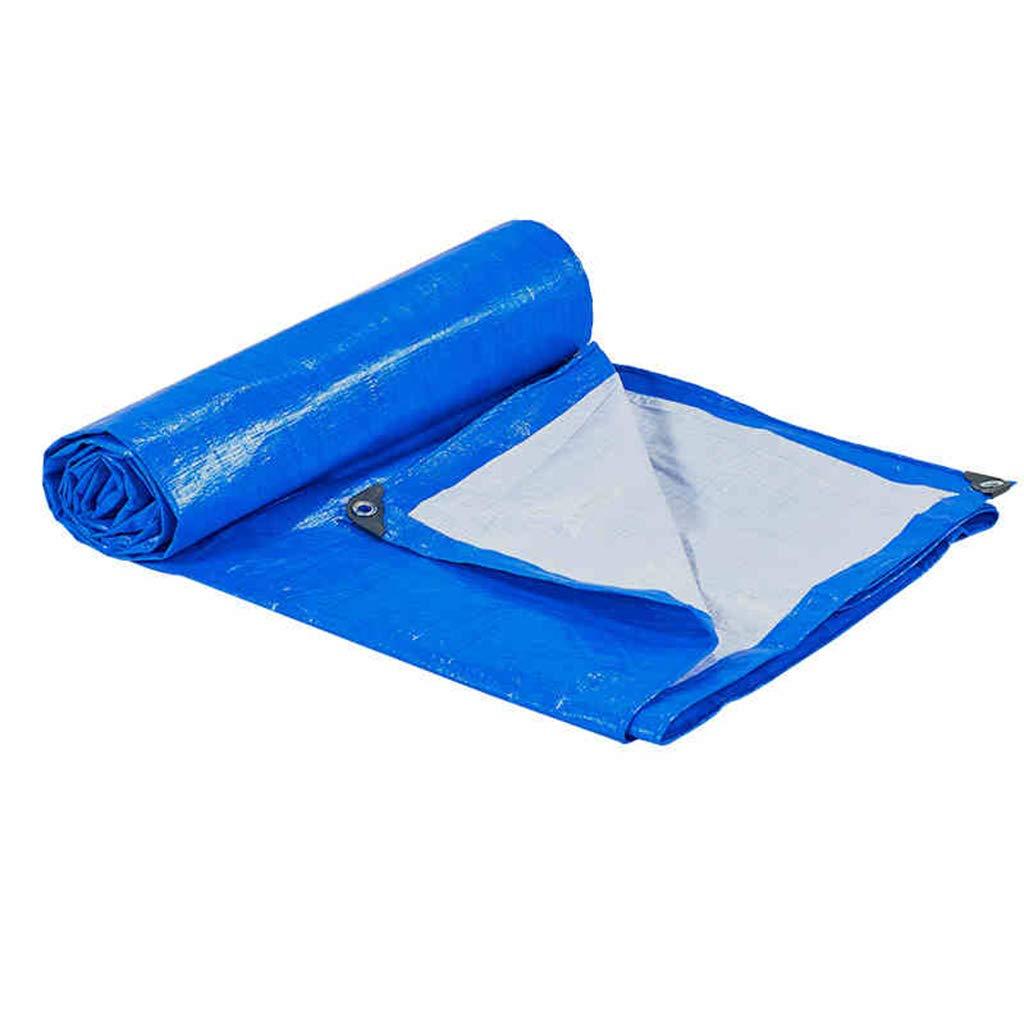 Jinxin Blaue Plane PE Doppelseitige Wasserdichte Sonnencreme im Freien haltbarer Starker Regen-Abdeckung (Blau und weiß, Größe, 3  3m, 170g ± 5g   M2) (größe   4  5m)