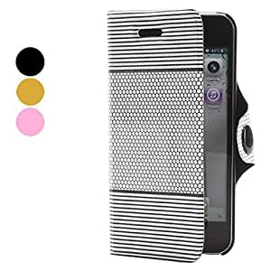 JJEHives Pattern PU Leather Case for iPhone 5/5S (Assorted Colors) , Black