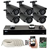 8 Channel H.265 4K NVR 5MP 1920p POE IP Camera System Wired, 6 x Varifocal Zoom 2.8-12mm Outdoor Indoor Security Camera - H.265 (Double recording data and enhance picture quality compared to H.264)
