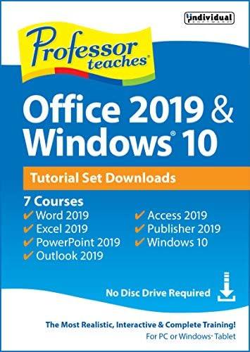 Professor Teaches Office 2019 & Windows Tutorial Set Downloads [PC Online code]