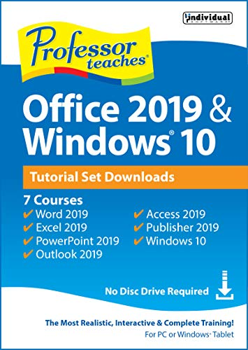Professor Teaches Office 2019 & Windows Tutorial Set Downloads [PC Online code] (Windows 7 Professor)