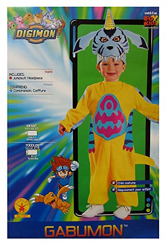 Rubie's Infants 'Digimon Gabumon' Halloween Costume, Yellow, 0-1